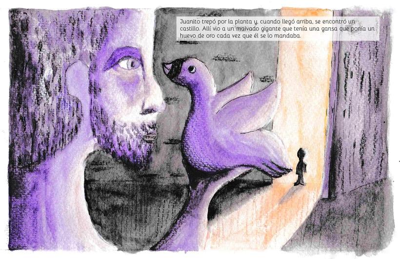 Juanito y las habichuelas mágicas | ilustración infantil 0