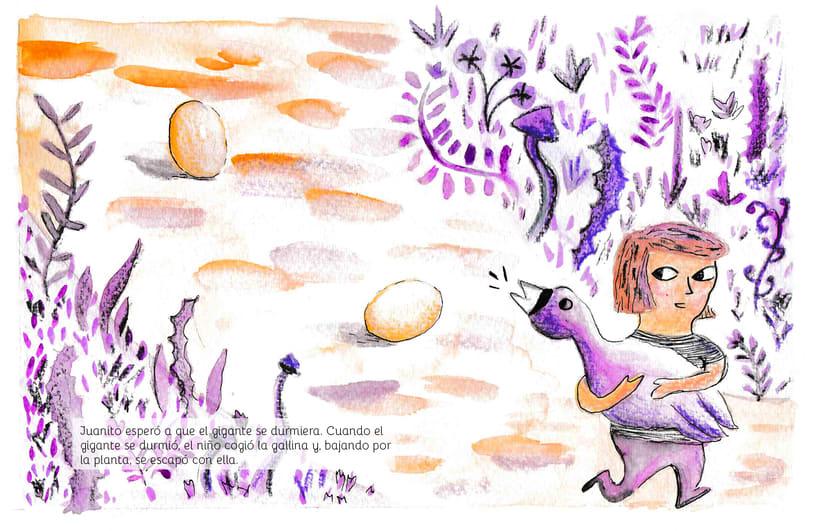 Juanito y las habichuelas mágicas | ilustración infantil 1