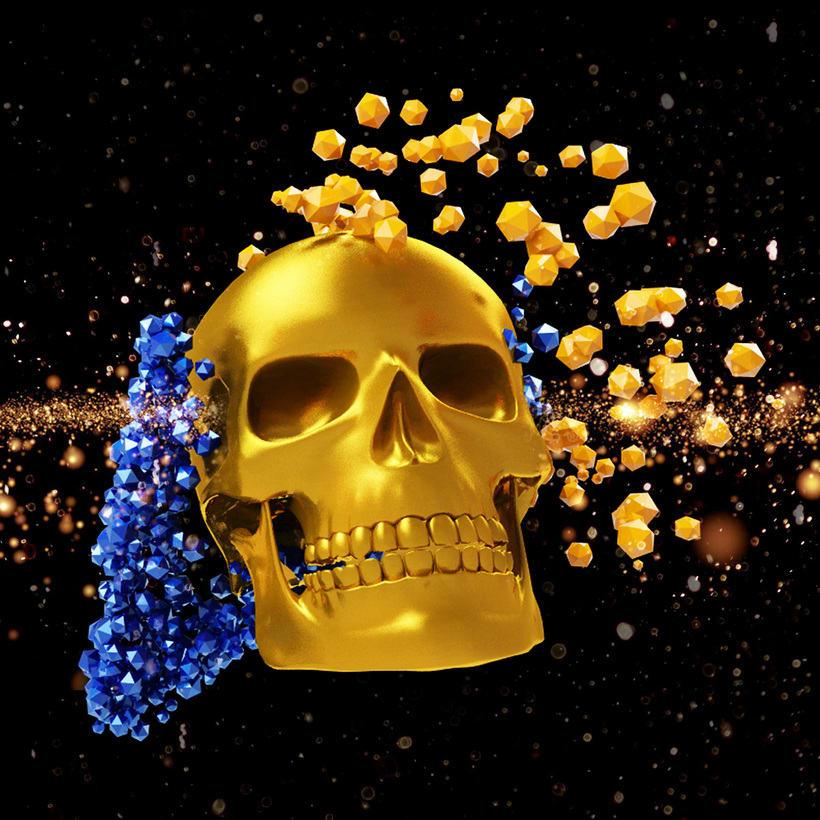 skull 3d particulas -1