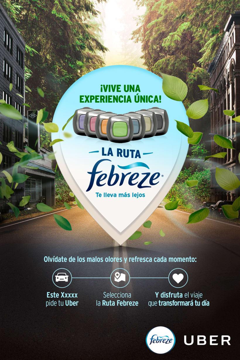 Febreze ft. Uber / Activación para Socios y Usuarios Uber / 2017 -1