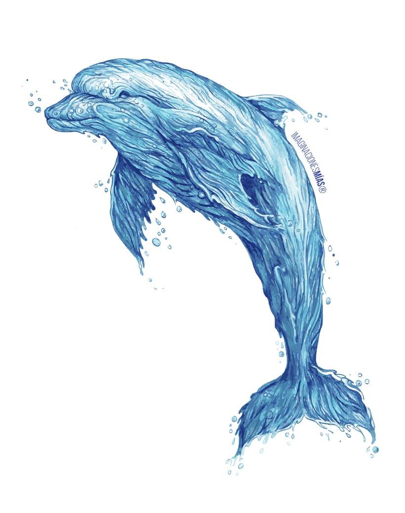 Serie Aquarium (Dibujos técnica mixta y retoque digital) 2