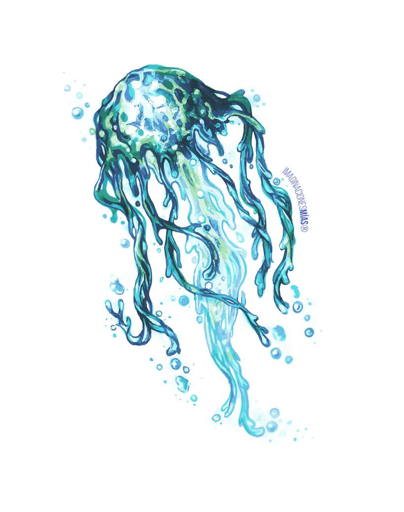 Serie Aquarium (Dibujos técnica mixta y retoque digital) 3