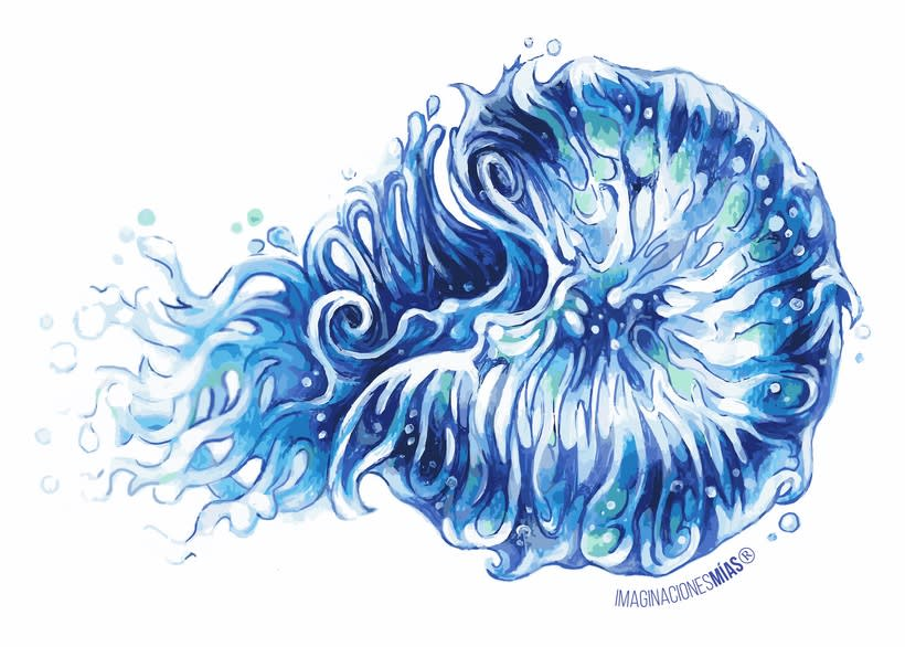 Serie Aquarium (Dibujos técnica mixta y retoque digital) 4