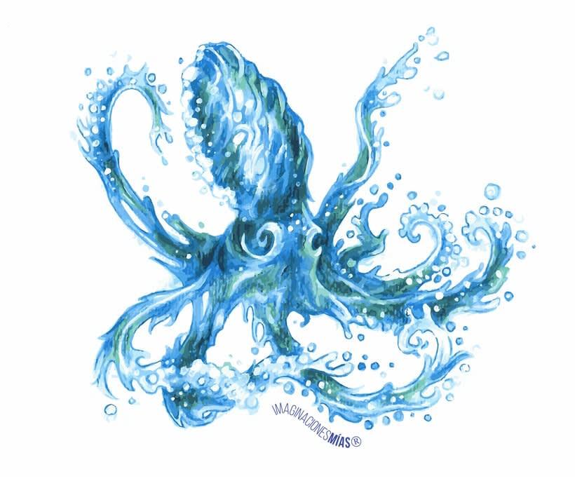 Serie Aquarium (Dibujos técnica mixta y retoque digital) 5