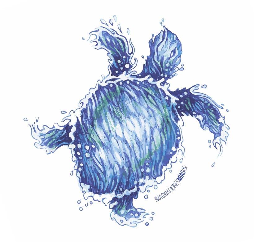 Serie Aquarium (Dibujos técnica mixta y retoque digital) 6