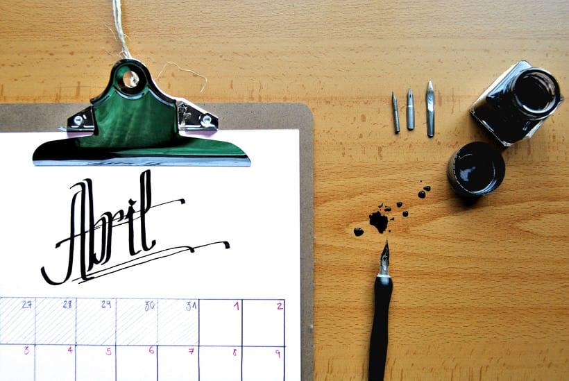 Calendario. Hand lettering 3