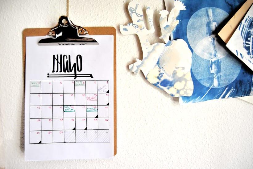 Calendario. Hand lettering 4