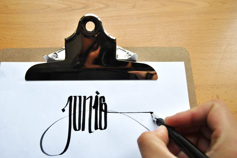 Calendario. Hand lettering 5