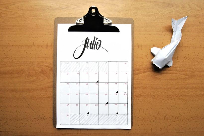 Calendario. Hand lettering 6