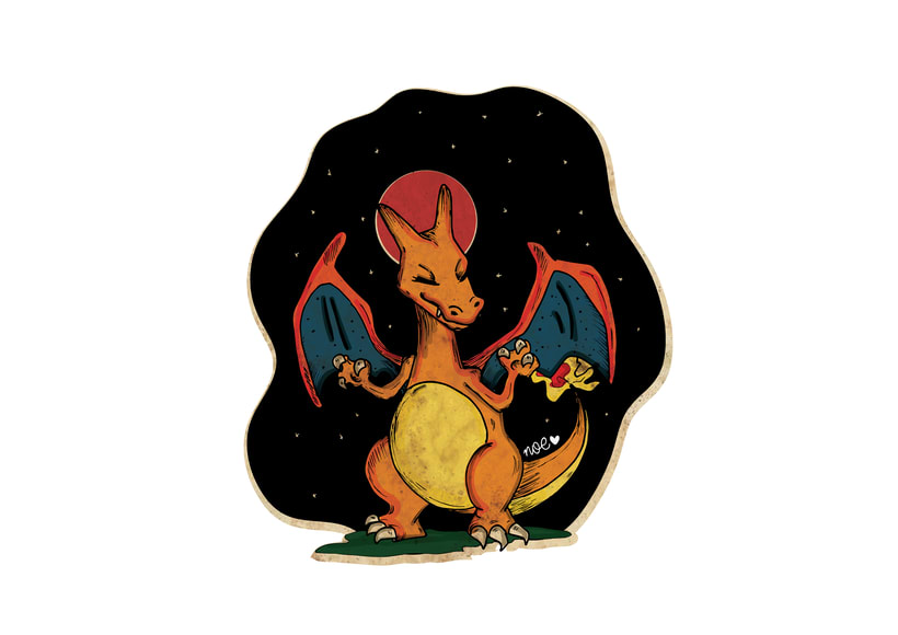 Charizard and the lunar eclipse -1