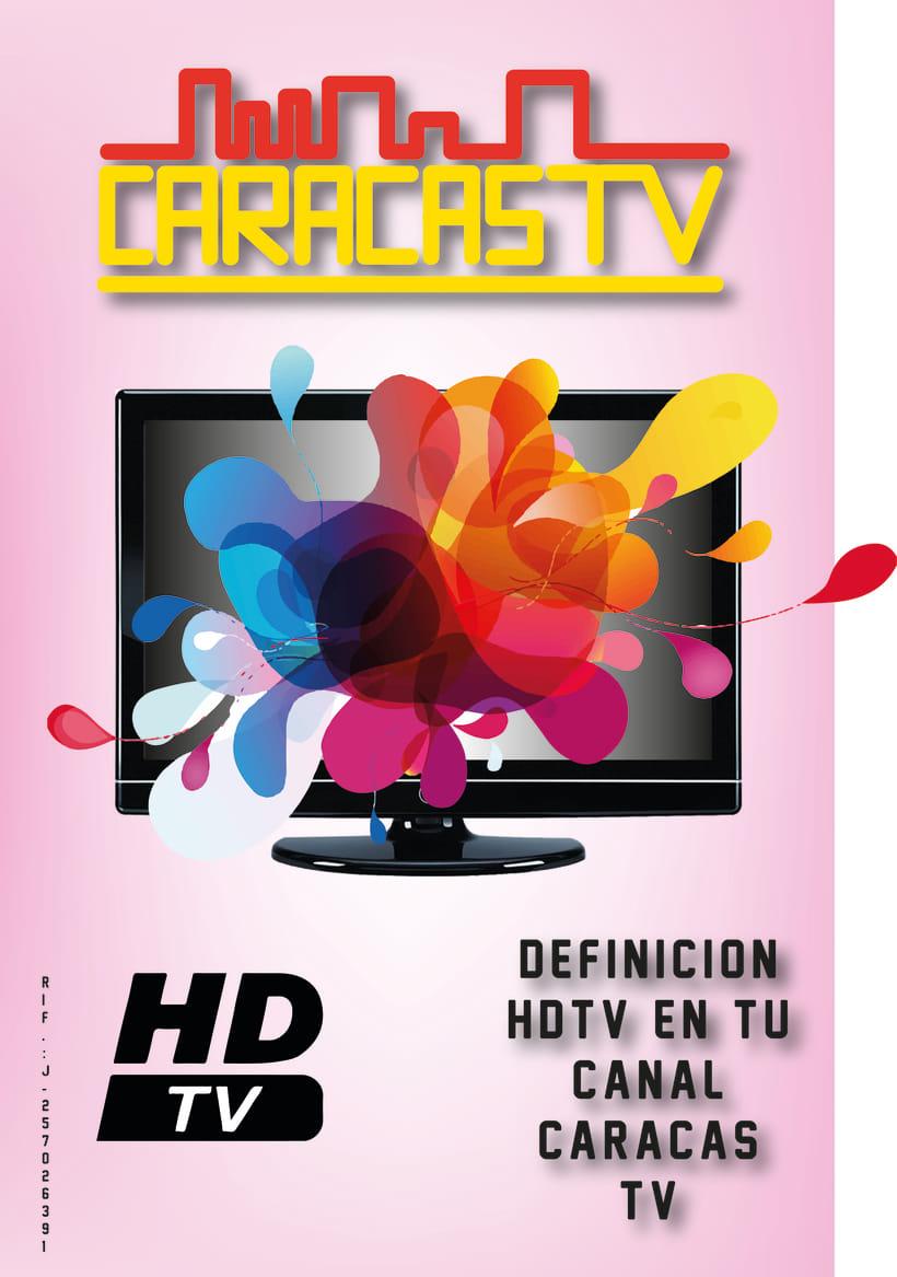 Afiche Publicitario Tv Caracas -1