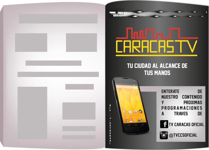 Aviso de revista Caracas Tv -1