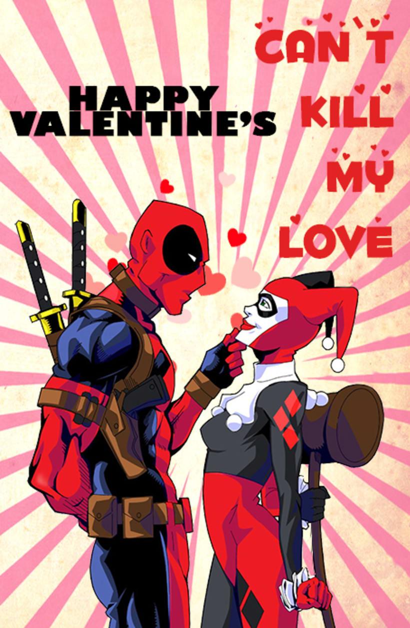 Harley Quinn y Deadpool San Valentin 0