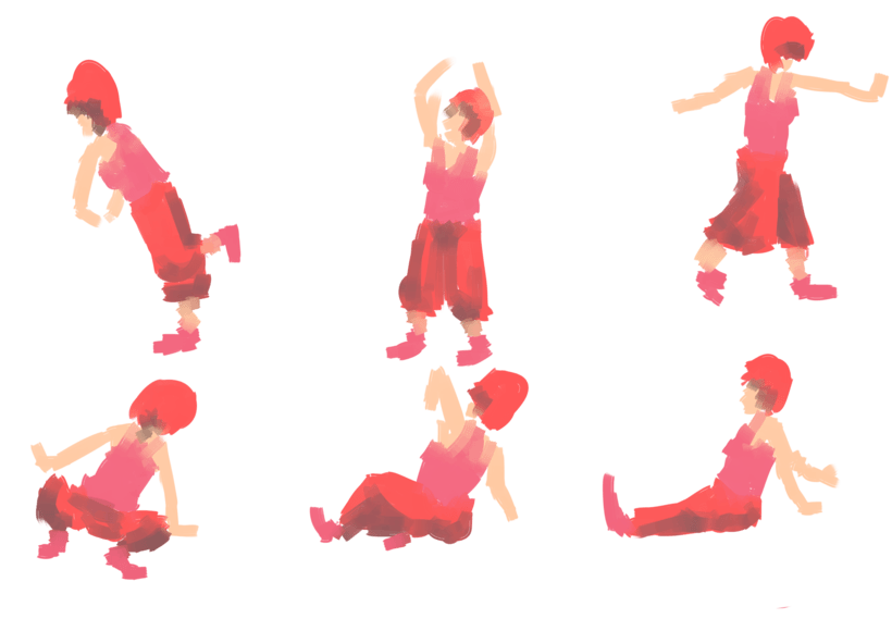Dibujo en movimiento (movimiento seguido) 6
