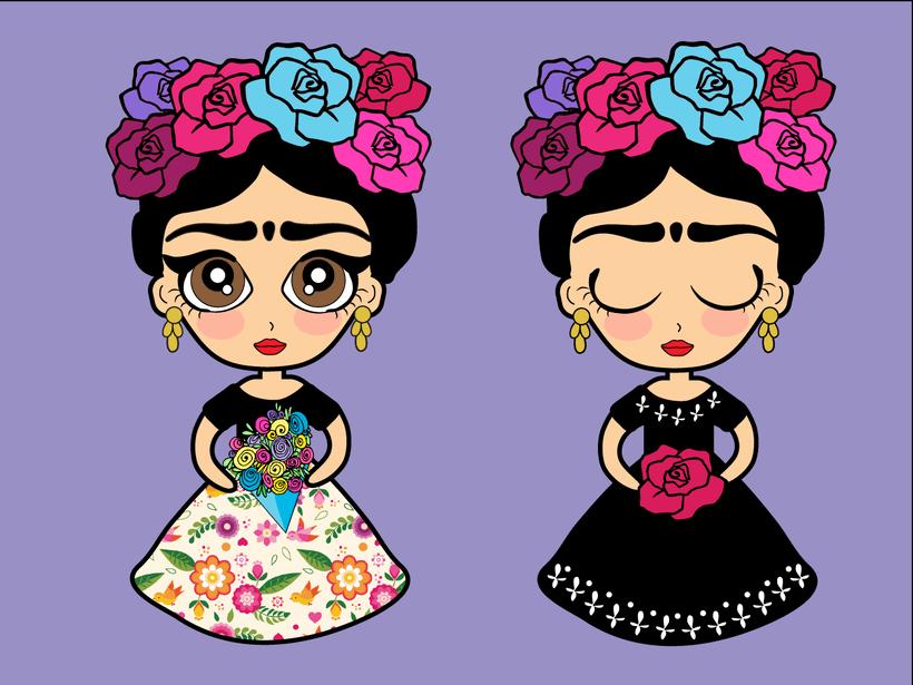 Frida Kahlo Dibujo Para Colorear: Dibujo Frida Kahlo