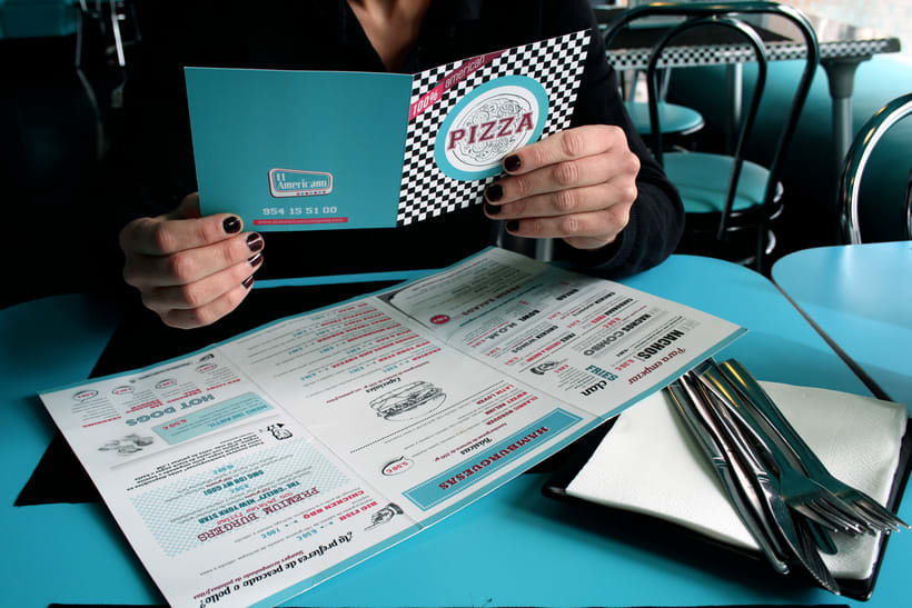 Cartas para restaurante El Americano 1