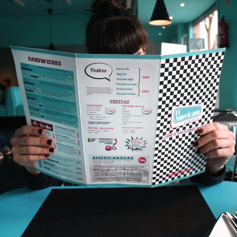 Cartas para restaurante El Americano 3