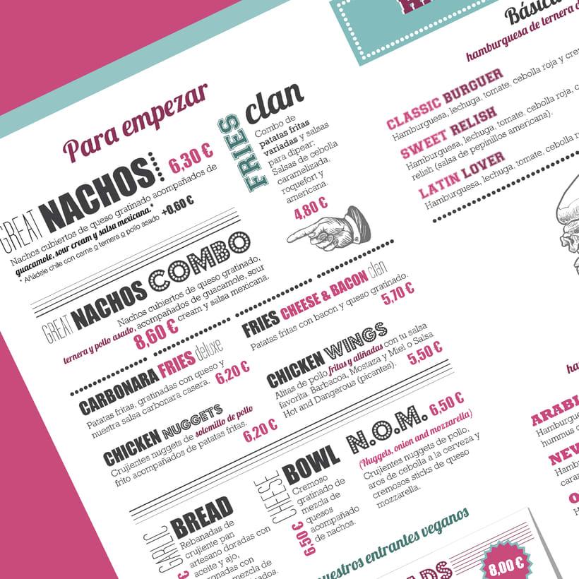 Cartas para restaurante El Americano 4