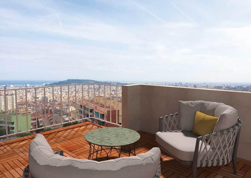 3D - Reforma piso en el carmelo - Barcelona 3