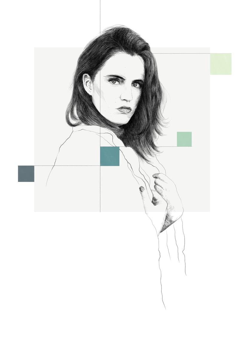 Marta / 2 versiones (Retrato ilustración) 0