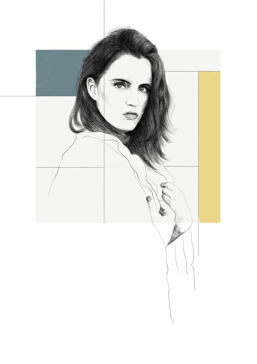 Marta / 2 versiones (Retrato ilustración) 1