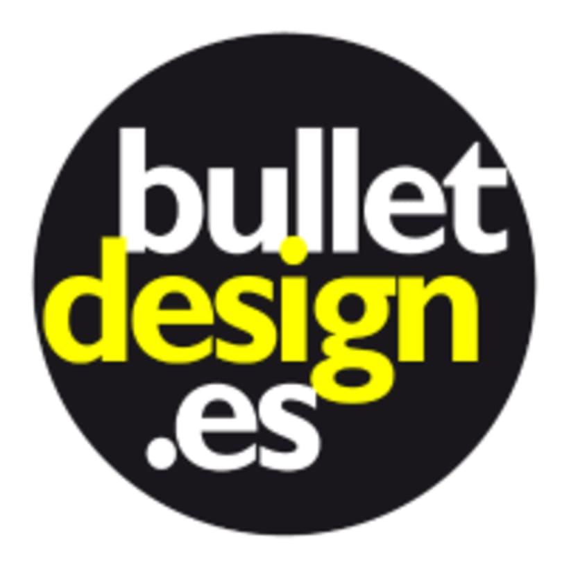 Creación de página web, mantenimiento y elementos de contenido visual para la agencia de diseño Bullet Design. -1