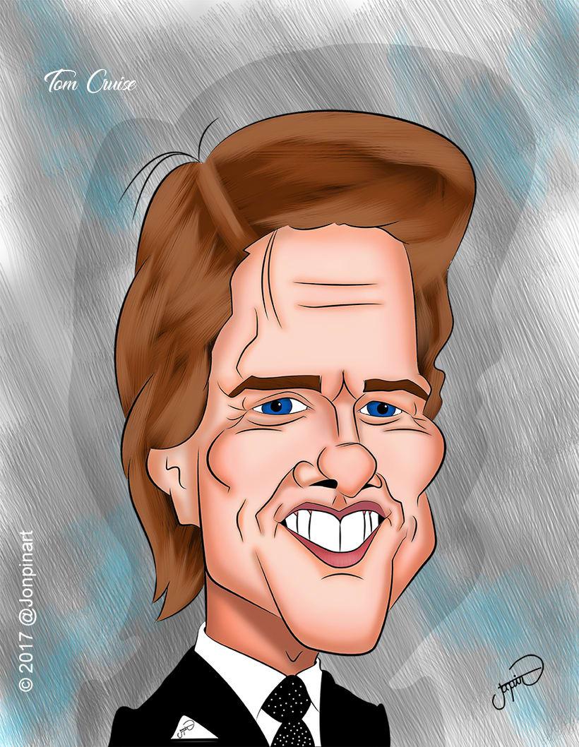 Tom Cruise Caricature -1