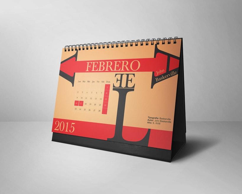 Calendario Tipográfico 2015 1