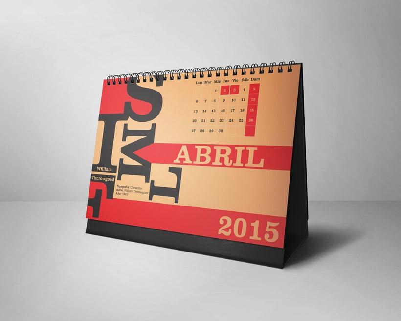 Calendario Tipográfico 2015 3