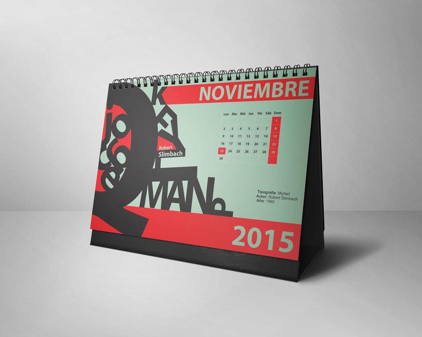 Calendario Tipográfico 2015 10