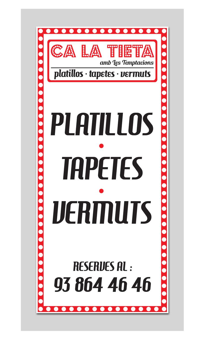 Ca la Tieta ( Diseño gráfico para restaurante) 0
