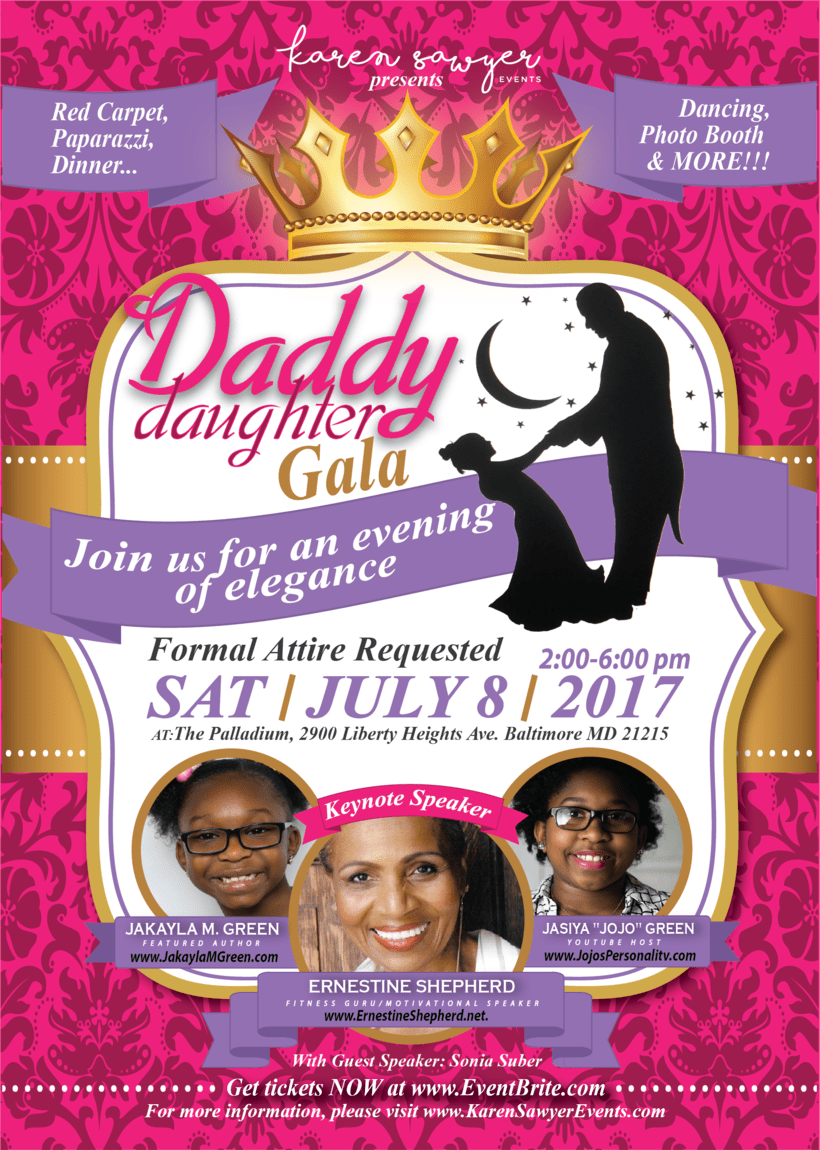 [FLYER, BANNER & PDF] Daddy Daughter Gala - Karen Sawyer -1