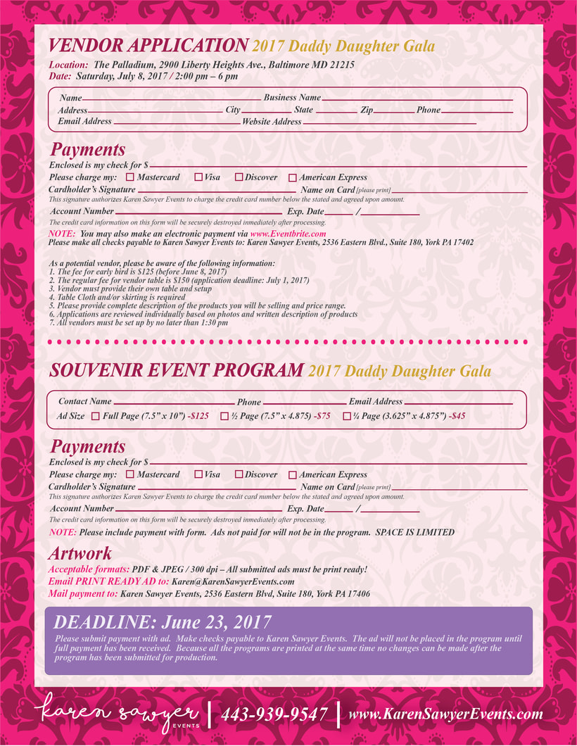 [FLYER, BANNER & PDF] Daddy Daughter Gala - Karen Sawyer 5
