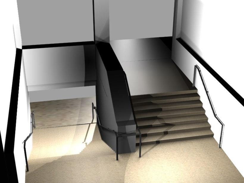 Modificación de pasamanos y escalera 1