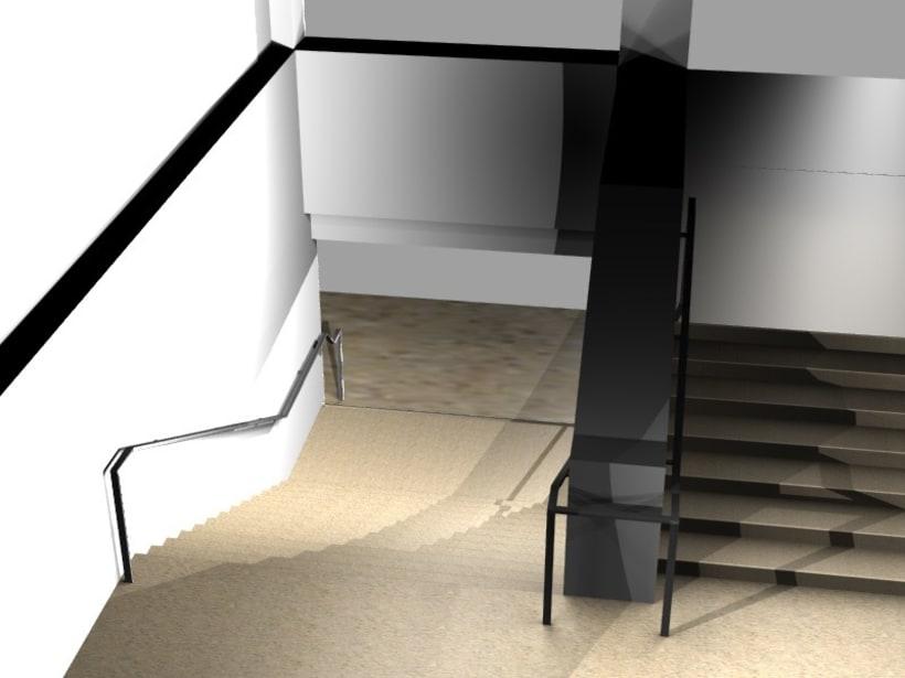 Modificación de pasamanos y escalera 3