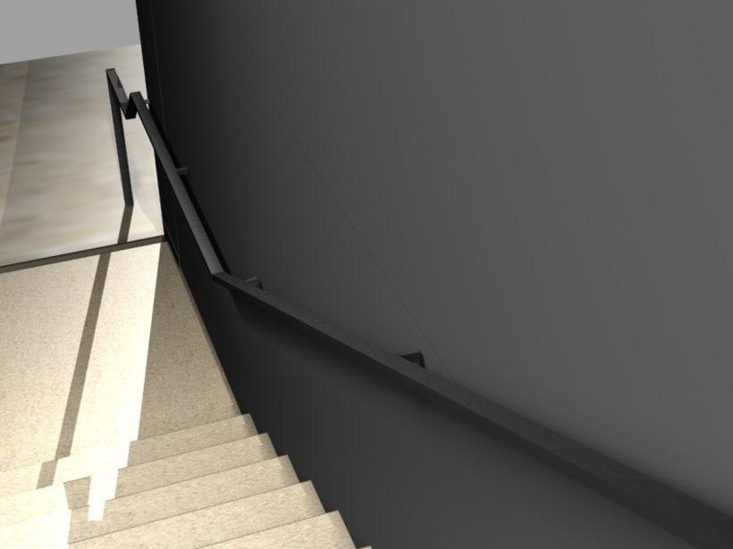 Modificación de pasamanos y escalera 5