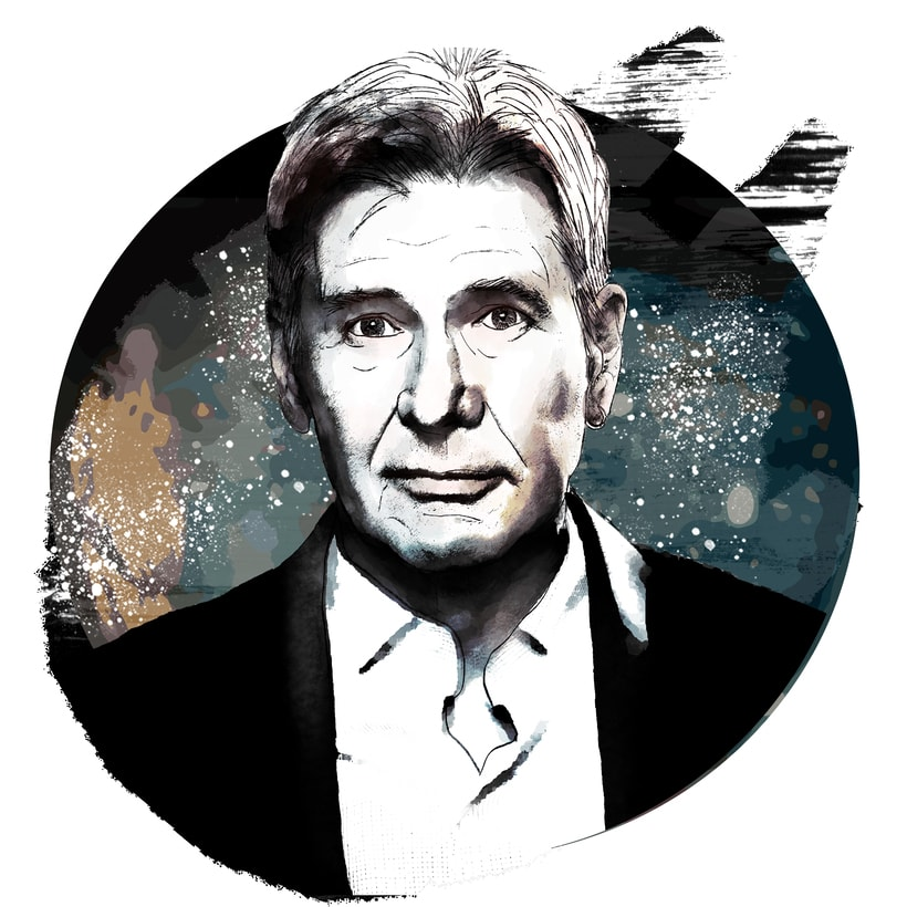 Mi Proyecto del curso: Retrato ilustrado con Photoshop - Harrison Ford -1
