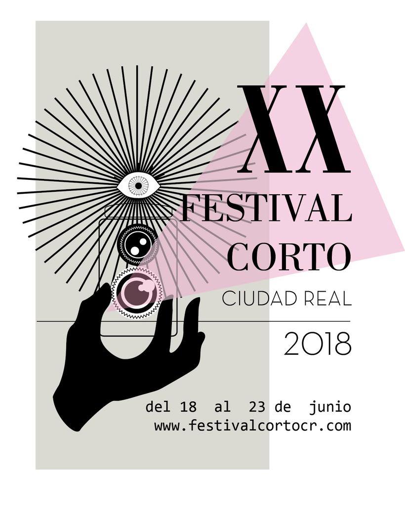 Propuesta de cartel para Festival de cortos de Ciudad Real 0