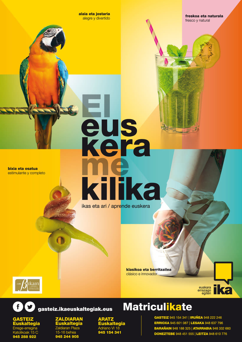 Campaña El euskera me kilika. IKA 18