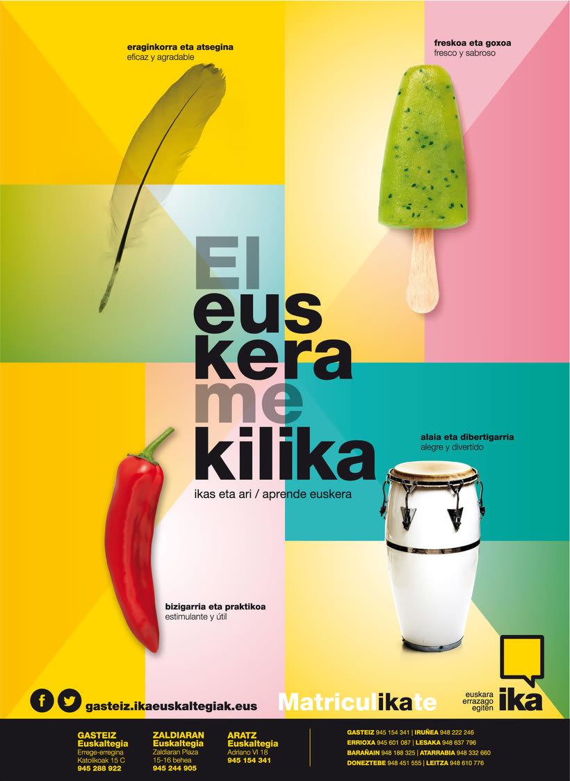 Campaña El euskera me kilika. IKA 2