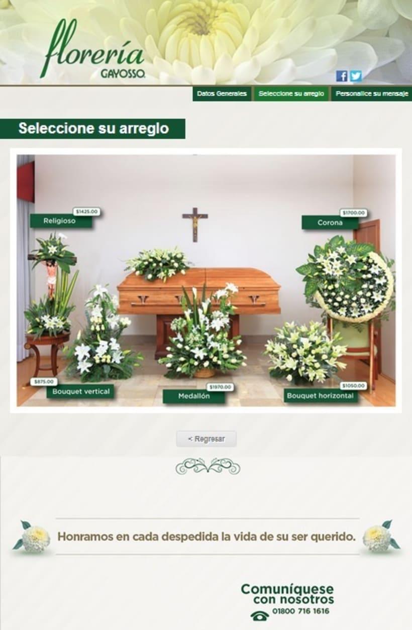 GAYOSSO / Web / Lanzamiento: Florería en línea / 2014 1