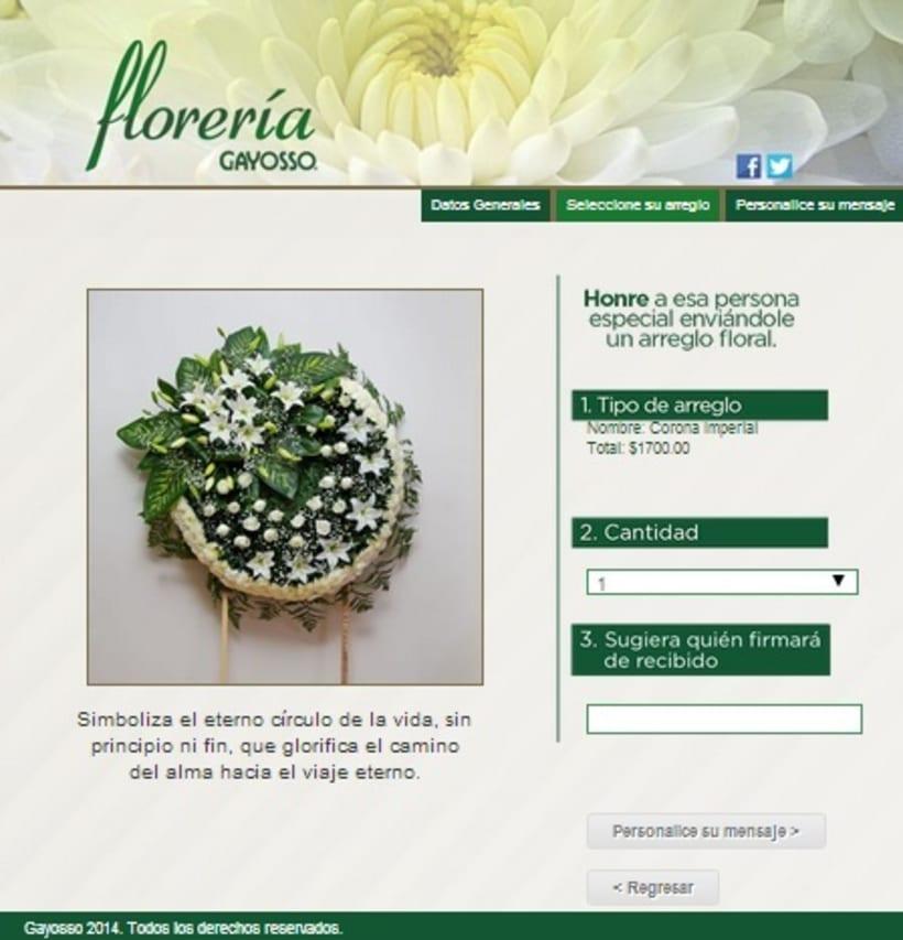 GAYOSSO / Web / Lanzamiento: Florería en línea / 2014 2