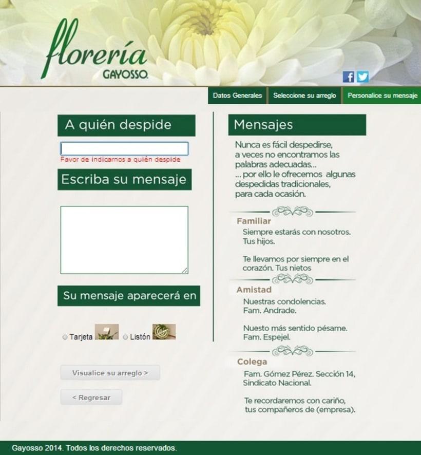 GAYOSSO / Web / Lanzamiento: Florería en línea / 2014 3