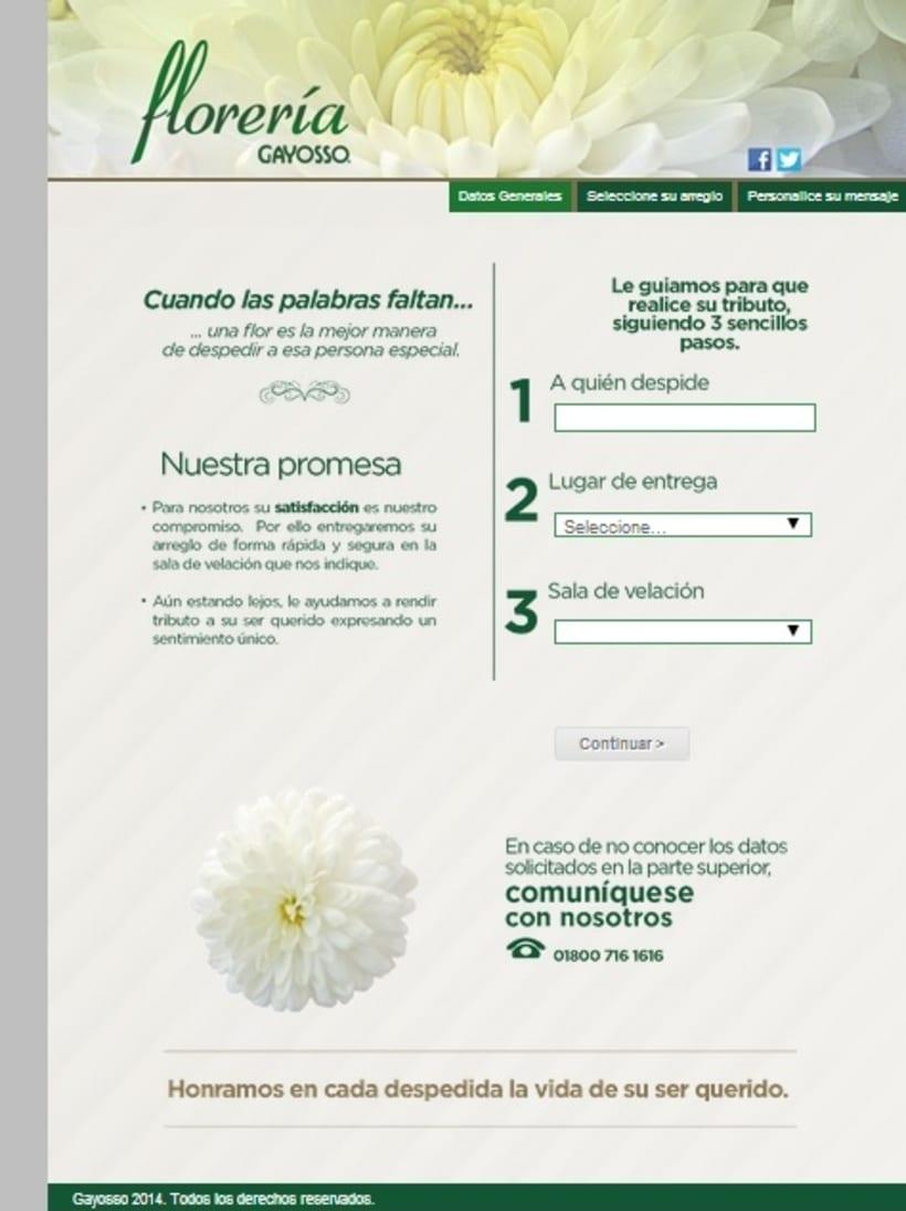GAYOSSO / Web / Lanzamiento: Florería en línea / 2014 0