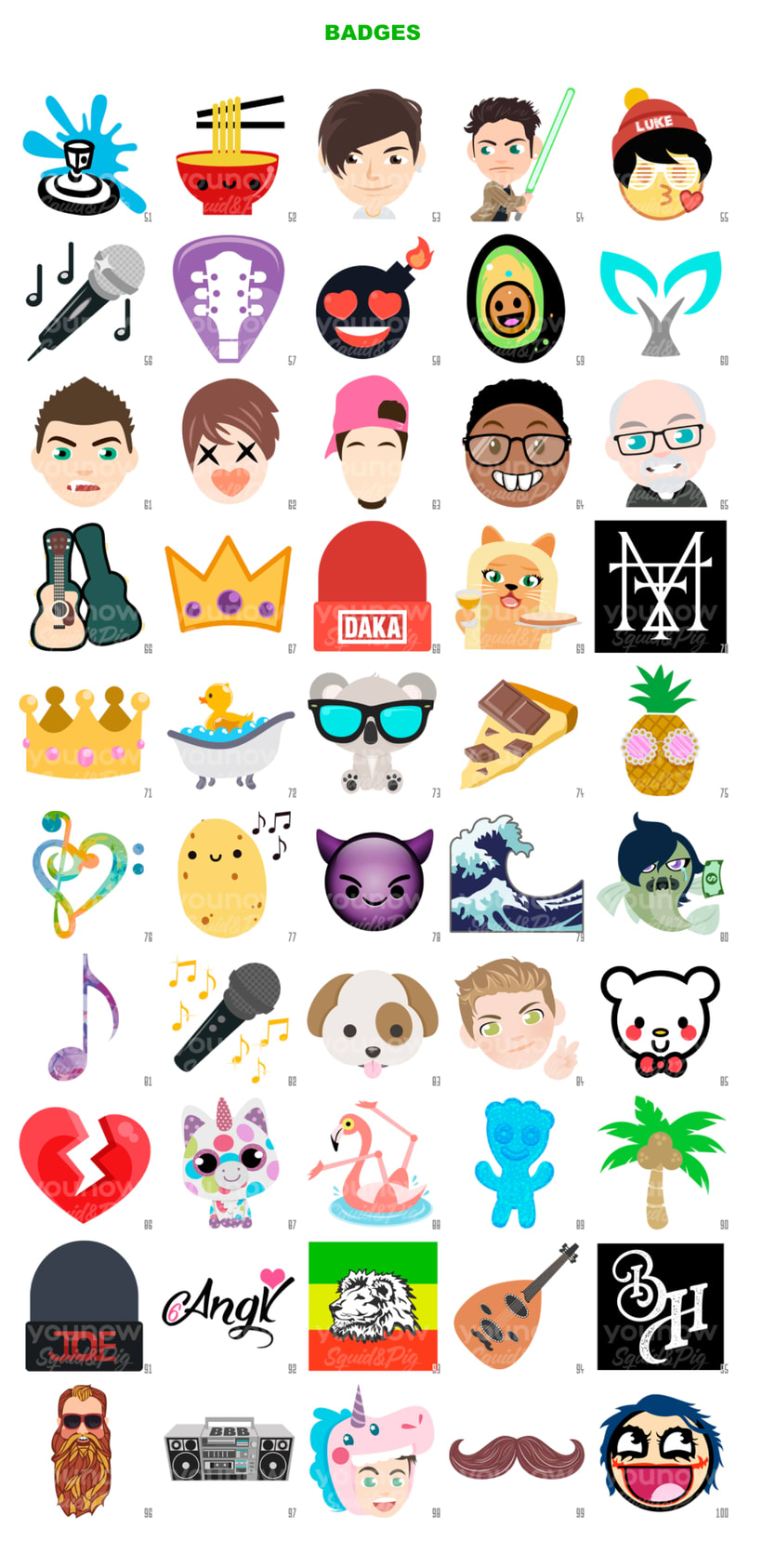 Kawaii Stickers for YouNow Vol. II 4