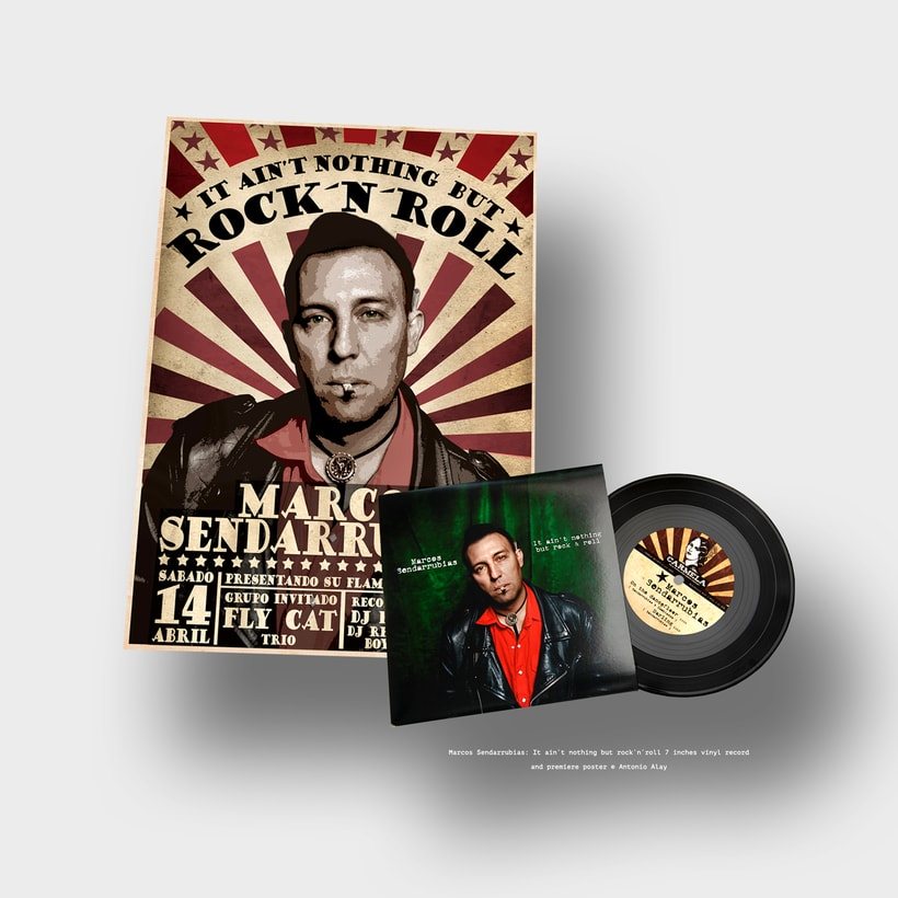 "Sendarrubias 7"" Vinyl Record & Poster -1"