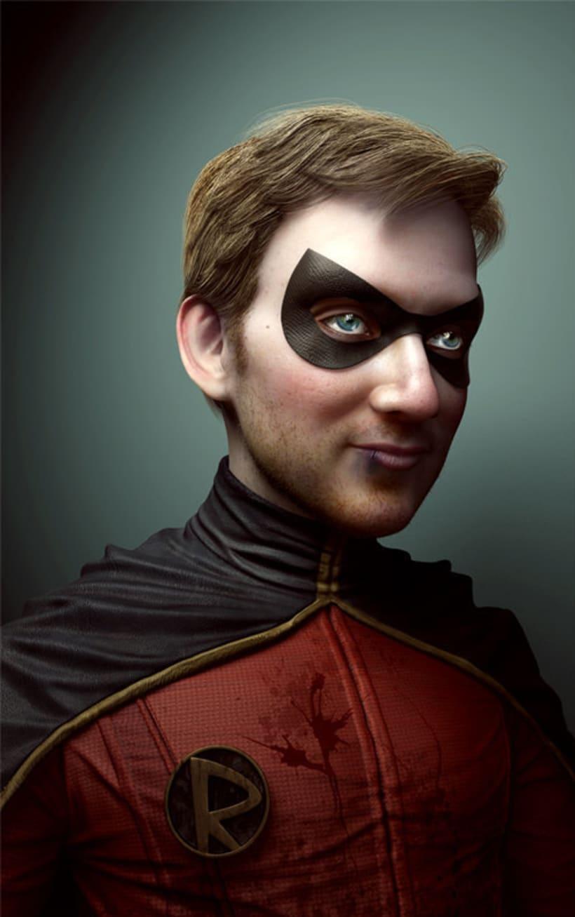 Gotham Characters: Batgirl and Robin 1