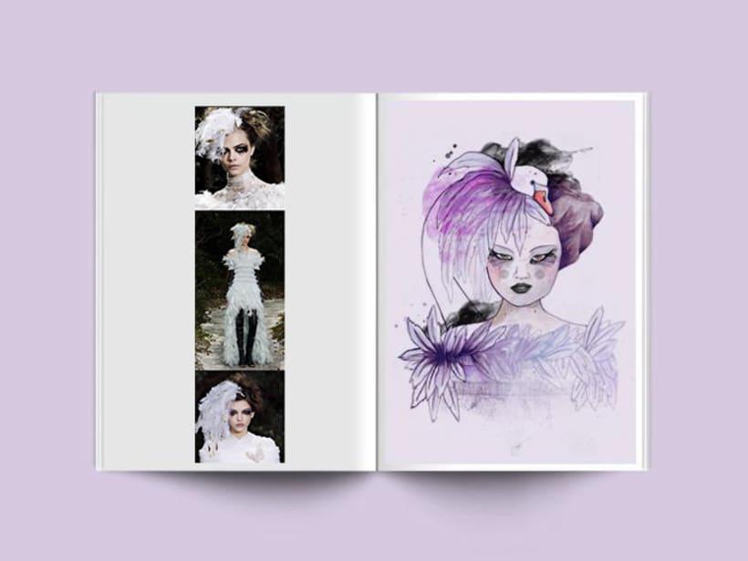 Ilustración moda inspirada en la colección Haute Couture de Coco Chanel 1
