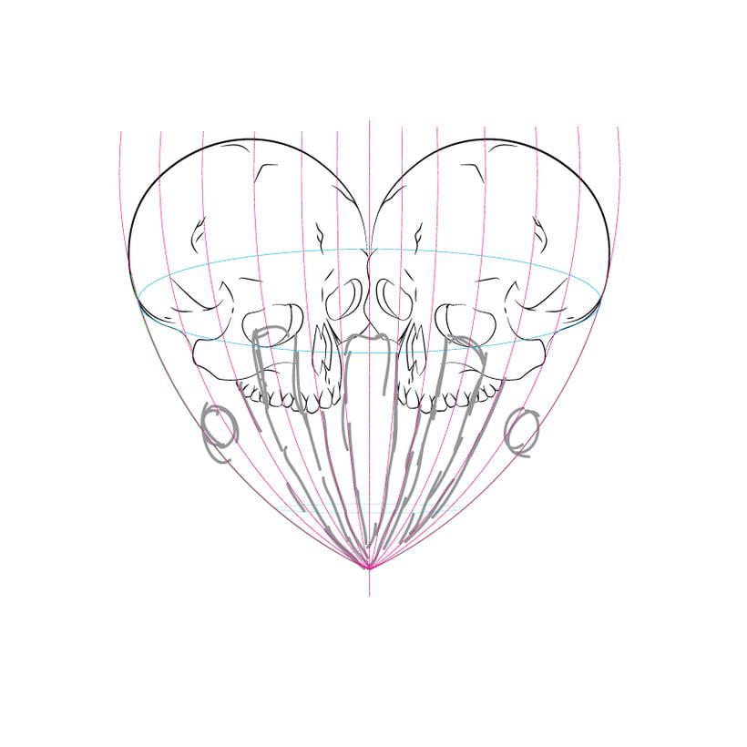 Dead heart. (Digital illustration) 2