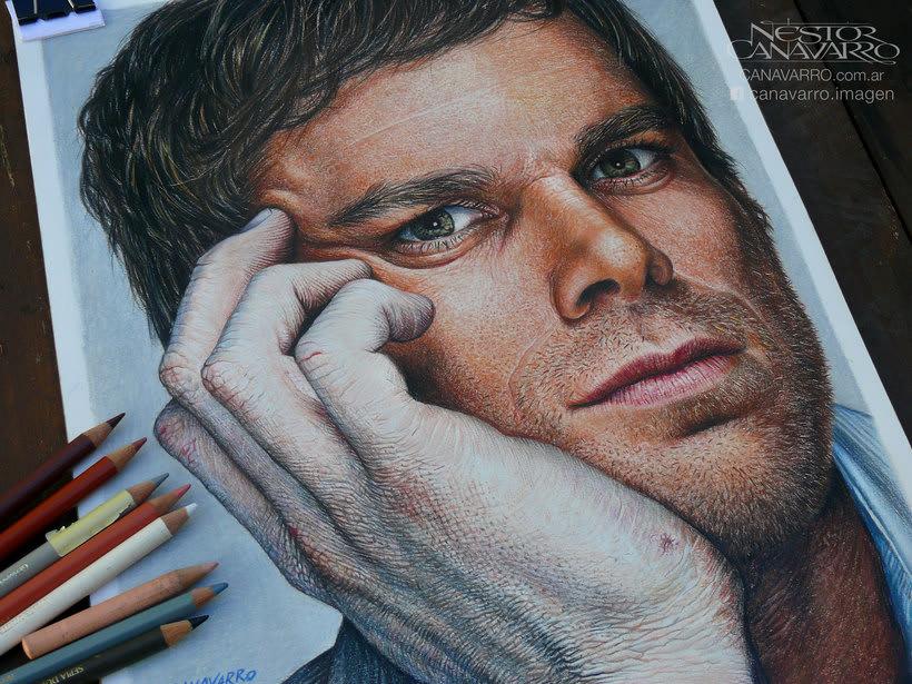 Michael C. Hall (Dexter) en lápices de colores 0
